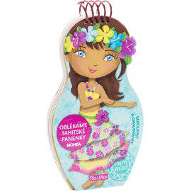 Oblékáme tahitské panenky Mohea - omalovánky
