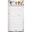 Family planner Cowboys, undated calendar, 30 x 30 cm