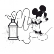Poznámkový kalendář Mickey Mouse – DIY: omalovánkový kalendář s pastelkami, 30 x 30 cm