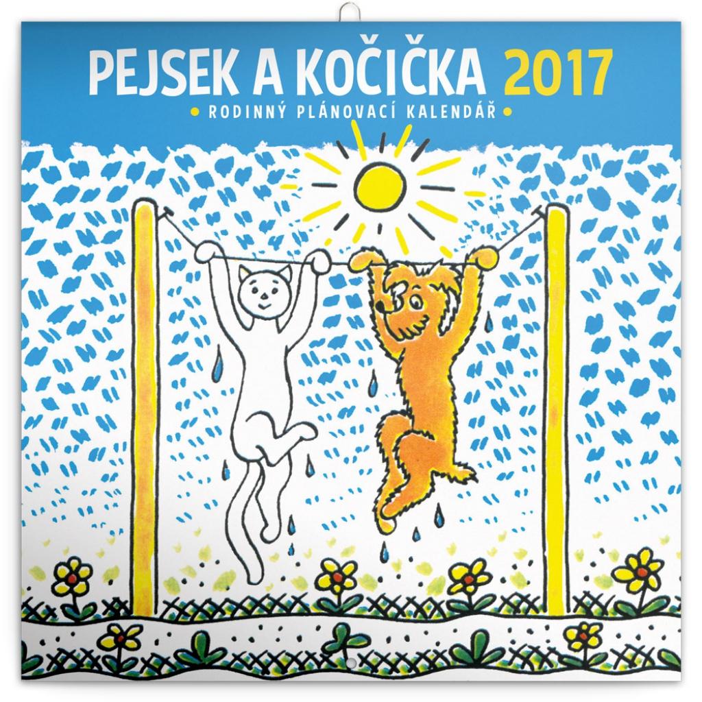 family planner pejsek a kočička 2017 30 x 30 cm presco cz