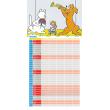 Plánovací kalendář Pejsek a kočička 2018, 30 x 30 cm