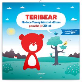 Plánovací kalendář Teribear 2018, 30 x 30 cm
