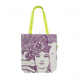 Canvas bag Alfons Mucha – Amethyst, Fresh Collection