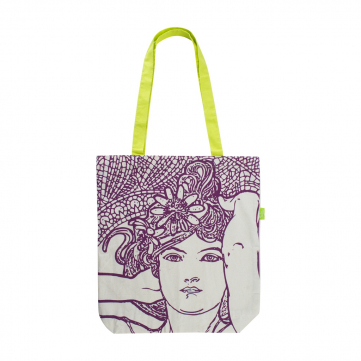 Plátěná taška Alfons Mucha – Amethyst, Fresh Collection