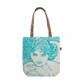 Plátěná taška Alfons Mucha – Emerald, Fresh Collection