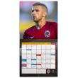 Poznámkový kalendář AC Sparta Praha 2018, 30 x 30 cm