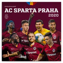 Poznámkový kalendář AC Sparta Praha 2020, 30 × 30 cm