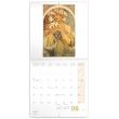 Poznámkový kalendář Alfons Mucha 2019, 30 x 30 cm