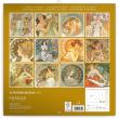 Poznámkový kalendář Alfons Mucha 2020, 30 × 30 cm