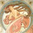 Poznámkový kalendář Alfons Mucha 2021, 30 × 30 cm