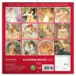 Poznámkový kalendář Alphonse Mucha mini 2020, 18 × 18 cm