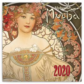 Grid calendar Alphonse Mucha mini 2020, 18 × 18 cm