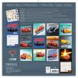 Poznámkový kalendář Auta 3 2019, se samolepkami, 30 x 30 cm