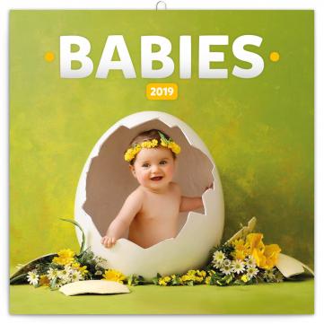 Grid calendar Babies 2019, 30 x 30 cm