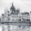 Poznámkový kalendář Budapešť 2019, 30 x 30 cm