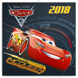 Grid calendar Cars 3 2018, DYI: 50 stickers, 30 x 30 cm