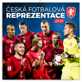 Poznámkový kalendář Česká fotbalová reprezentace 2018, 30 x 30 cm
