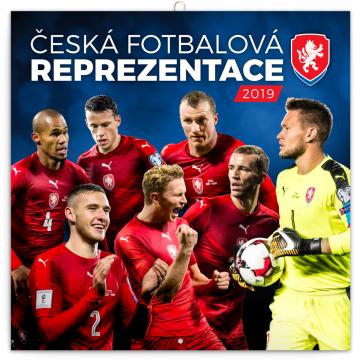 Poznámkový kalendář Česká fotbalová reprezentace 2019, 30 x 30 cm