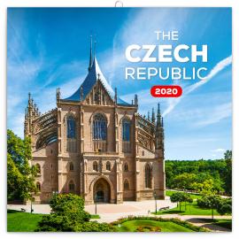 Poznámkový kalendář Česká republika mini 2020, 18 × 18 cm