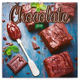 Poznámkový kalendář Čokoláda 2018, voňavý, 30 x 30 cm