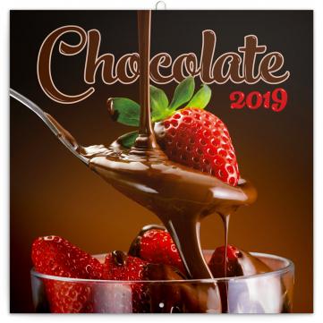 Poznámkový kalendář Čokoláda 2019, voňavý, 30 x 30 cm