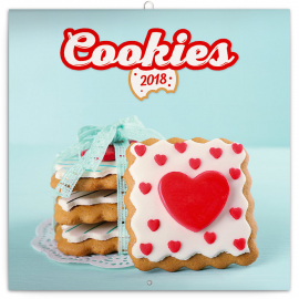 Poznámkový kalendář Cookies 2018, 30 x 30 cm