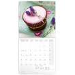 Poznámkový kalendář Cupcakes 2018, 30 x 30 cm