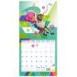 Poznámkový kalendář Frozen – Ledové království 2019, s  50 samolepkami, 30 x 30 cm