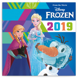 Grid calendar Frozen 2019, DIY: 50 stickers, 30 x 30 cm