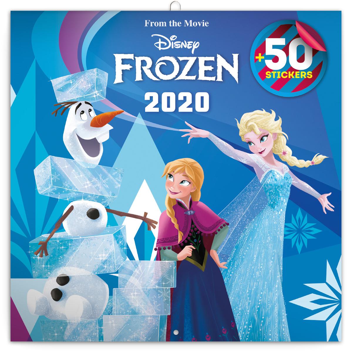 Grid Calendar Frozen 2020 Diy 50 Stickers 30 215 30 Cm