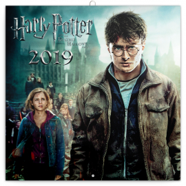 Poznámkový kalendář Harry Potter 2019, 30 x 30 cm