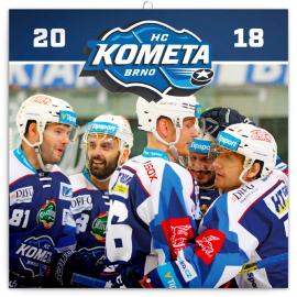 Poznámkový kalendář HC Kometa Brno 2018, 30 x 30 cm