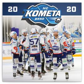 Poznámkový kalendář HC Kometa Brno 2020, 30 × 30 cm