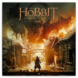 Poznámkový kalendář Hobbit 2018, 30 x 30 cm