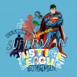 Poznámkový kalendář Justice League 2020, 30 × 30 cm