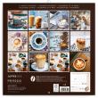 Poznámkový kalendář Káva 2020, voňavý, 30 × 30 cm