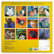 Poznámkový kalendář Kočky na plátně 2021, 30 × 30 cm