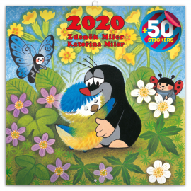 Grid calendar The Little Mole 2020, DIY: 50 stickers, 30 × 30 cm