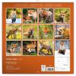 Poznámkový kalendář Liščí rodinka 2020, 30 × 30 cm