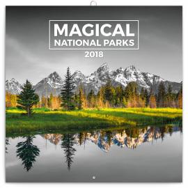 Grid calendar Magical National Parks 2018, 30 x 30 cm