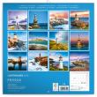 Poznámkový kalendář Majáky 2020, 30 × 30 cm