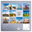 Poznámkový kalendář Majáky 2021, 30 × 30 cm