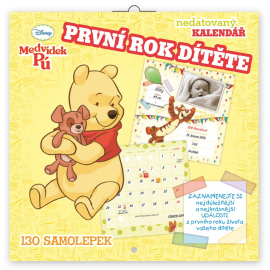 Grid calendar Winnie the Pooh - Babies First Year, undated, 30 x 30 cm