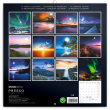 Poznámkový kalendář Měsíc 2019, 30 x 30 cm