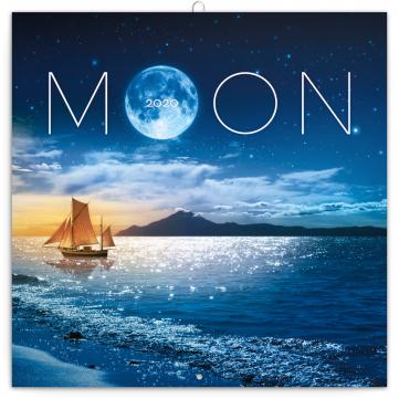 Poznámkový kalendář Měsíc 2020, 30 × 30 cm