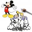 Grid calendar Mickey Mouse, DYI: Undated Colouring Calendar, 30 x 30 cm