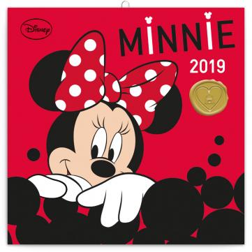 Poznámkový kalendář Minnie 2019, 30 x 30 cm