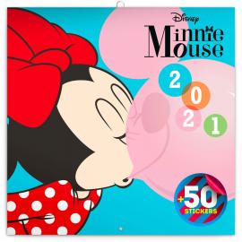 Grid calendar Minnie 2021, DIY: 50 stickers, 30 × 30 cm