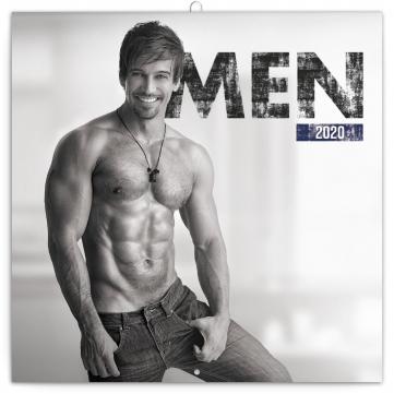 Poznámkový kalendář Muži 2020, 30 × 30 cm