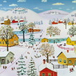 Poznámkový kalendář Naivní umění – Konstantin Rodko 2019, 30 x 30 cm